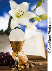 Sacrament of communion, Eucharist symbol - Eucharist,...