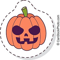 Pumpkin head vector illustration. Pumpkin head isolated on...