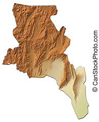 Relief map - Catamarca (Argentina) - 3D-Rendering