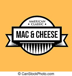 Mac and Cheese - Macaroni - American classic vintage stamp