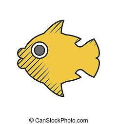 fish icon on white background for web