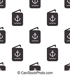 sailor ID icon on white background