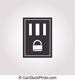 prison icon on white background