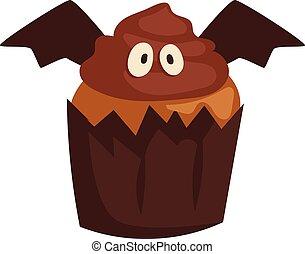 Halloween symbol vector. - Halloween cake symbol vector...
