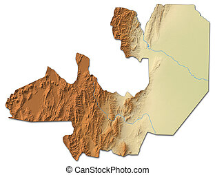 Relief map - Salta (Argentina) - 3D-Rendering