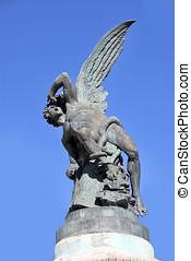 Fallen Angel3 - Fallen angel statue in retiro park. Madrid....