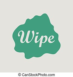 Wipe cloth icon Gray background with green Vector...