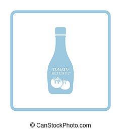 Tomato ketchup icon. Blue frame design. Vector illustration.