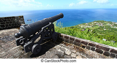 Brimstone Hill Fortress - St Kitts - Cannon at Brimstone...
