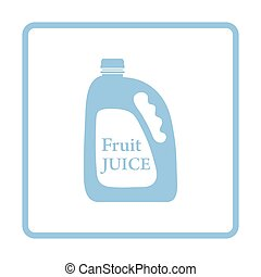 Fruit juice canister icon. Blue frame design. Vector...