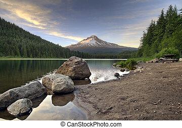 Mount Hood at Trillium Lake 3 - Mount Hood by Trillium Lake...