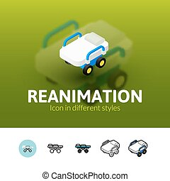 Reanimation icon in different style - Reanimation color...