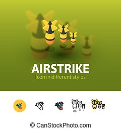 Airstrike icon in different style - Airstrike color icon,...