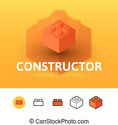 Constructor icon in different style - Constructor color...