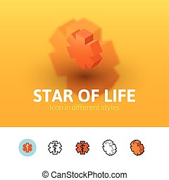 Star of life icon in different style - Star of life color...