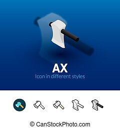 Ax icon in different style