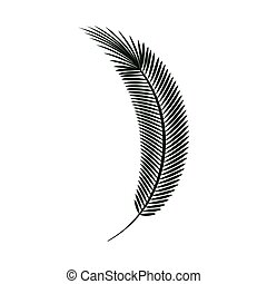 green palm leaf branch nature tropical plant. vector...