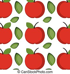 apple fruit background - red apple fruit with green leaf...
