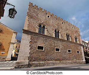 Palazzo Corvaja in Taormina, Sicily, also known as the...