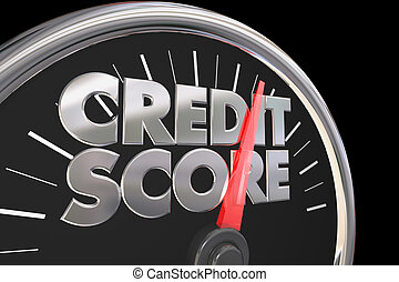 Credit Score Speedometer Better Improve Rating Number 3d Illustration