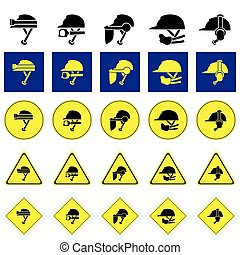 using variety of helmet sign