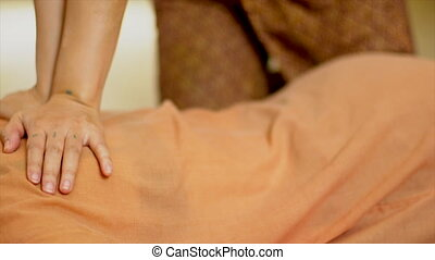 Thai back Massage, Spa Concept