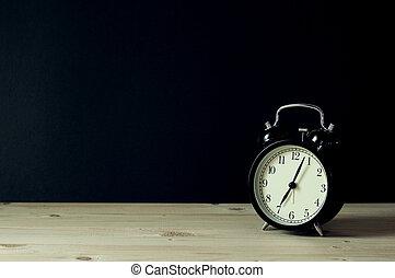 Retro alarm clock with copy space.