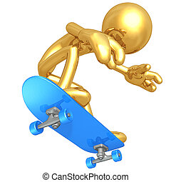 Skateboarding - A Concept And Presentation Figure In 3D