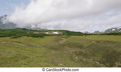 Panorama at foot of volcano Avachinskaya group. - Panorama...