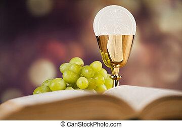 Bibbia, Eucaristia, sacramento, di, comunione, fondo