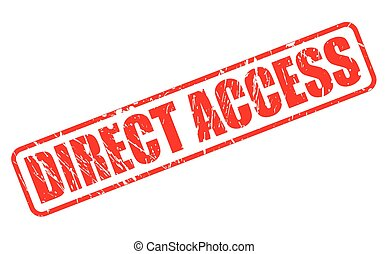 DIRECT ACCESS red stamp text on white