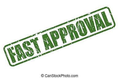 FAST APPROVAL green stamp text on white