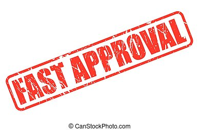 FAST APPROVAL red stamp text on white