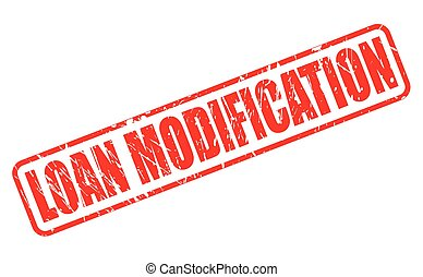 LOAN MODIFICATION red stamp text on white