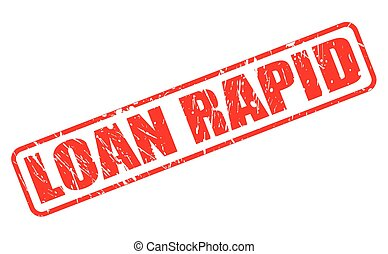 LOAN RAPID red stamp text on white