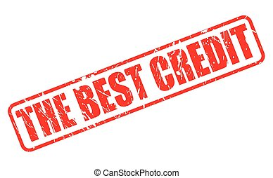 THE BEST CREDIT red stamp text on white