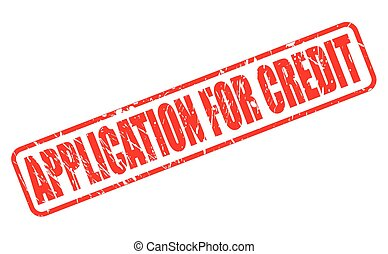 APPLICATION FOR CREDIT red stamp text on white