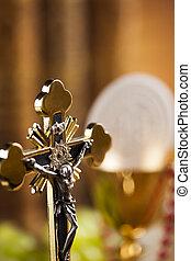 eucharistie, sacrement, de, Communion, fond