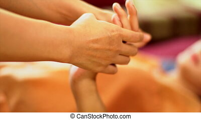 Thai hand Massage, Spa Concept