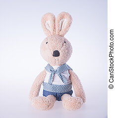 rabbit or bunny toy on a background. - rabbit or bunny toy...