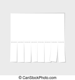Blank advertisement template with cut slips. Vector...