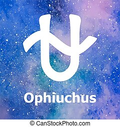 Ophiuchus, thirteenth sign of the zodiac. Vector...