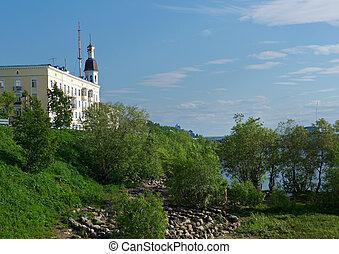 Embankment of the Northern Dvina River - Arkhangelsk...