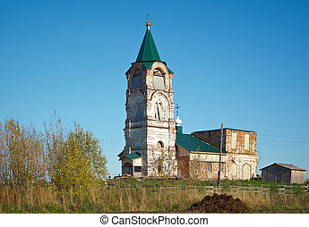 Ancient Church of St. Sergius of Radonezh .village...