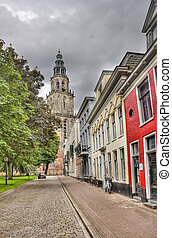 Groningen church tower, Holland - Martini church tower in...