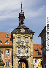 Bamberg Cit Hall, Germany - Bamberg city hall tower in...