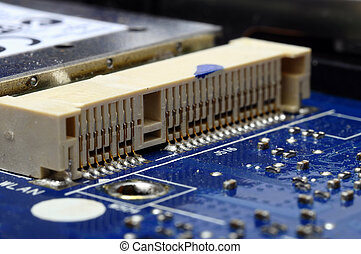 Close up of computer electronic components - Macro and...