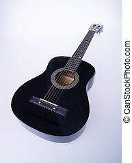 guitars or black color guitars on a background - guitars or...