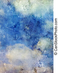 clouds with added textures - clouds on blue sky background...