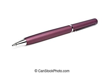 鋼筆, 球, 白色, 背景, 點
